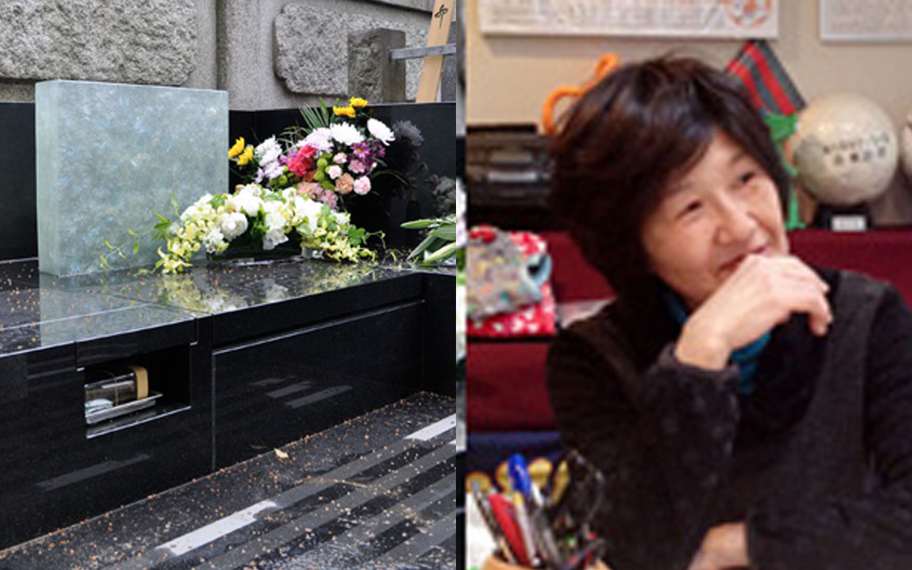 夫の為のお墓デザイン